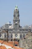 市政厅在波尔图,葡萄牙 库存照片