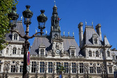 市政厅在巴黎 库存图片