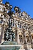 市政厅在巴黎 免版税库存图片