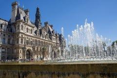市政厅在巴黎 库存照片