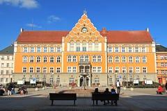 市政厅在Cesky Tesin 免版税图库摄影