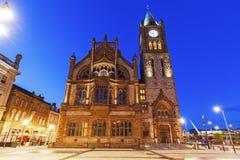 市政厅在Derry 库存照片