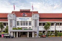 市政厅在Java的Indoensia Surabya 免版税图库摄影