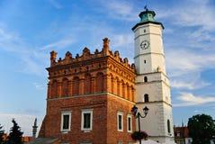 市政厅在Sandomierz,波兰 免版税库存图片