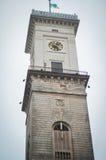 市政厅塔在利沃夫州 免版税库存图片
