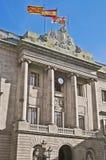 市政厅大厦在巴塞罗那,西班牙 免版税图库摄影