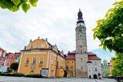 市政厅大厦在Boleslawiec 库存图片
