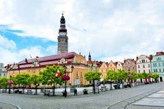 市政厅大厦在Boleslawiec 图库摄影