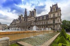 巴黎市政厅大厦 免版税图库摄影