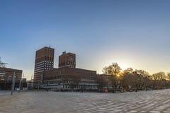市政厅挪威奥斯陆 免版税图库摄影