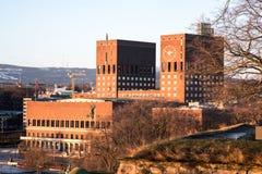 市政厅挪威奥斯陆 库存照片