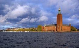 市政厅斯德哥尔摩 免版税库存照片