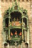 市政厅时钟。慕尼黑。德国 库存照片