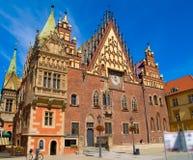 市政厅波兰wroclaw 库存图片