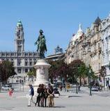 市政厅波尔图葡萄牙 免版税图库摄影