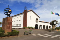 市政厅海岛马德拉岛桑塔纳 免版税库存图片