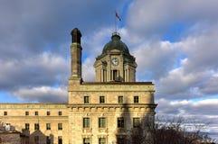 市政厅老过帐魁北克 免版税库存照片