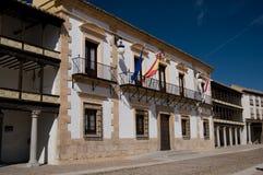 市政厅西班牙方形tembleque市长 免版税库存图片
