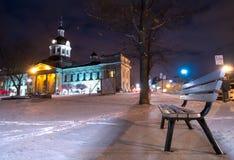 市政厅金斯敦安大略冬天 免版税库存照片