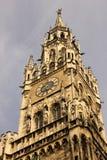 市政厅钟楼。慕尼黑。德国 免版税库存照片
