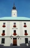 市政厅,一个老市场的房子门面 免版税图库摄影