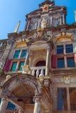 市政厅, Delt,荷兰葡萄酒大厦 免版税图库摄影