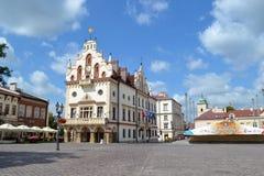 市政厅, Rzeszà ³ w 免版税库存照片