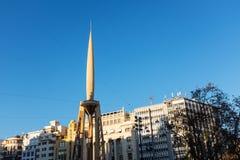 市政厅falla在巴伦西亚 库存图片