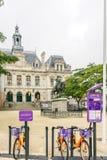 市政厅hotel de ville大厦,在瓦讷 免版税库存照片