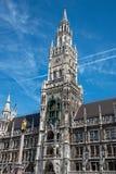 市政厅marienplatz新的慕尼黑 库存图片