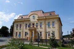 市政厅Ocna锡比乌,罗马尼亚 库存图片