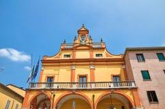 市政大厦。Cento.伊米莉亚罗马甘。意大利。 免版税库存图片