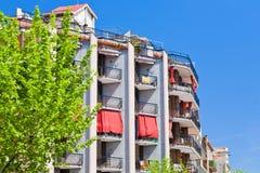 市政巴塞罗那的房子 免版税库存图片