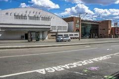 市政市场门面在库里奇巴 免版税库存图片