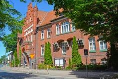 市政当局大厦在布拉涅沃,波兰 图库摄影