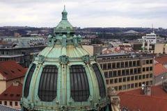 市政房子圆屋顶在布拉格 库存照片