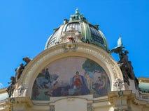 市政议院的门面在布拉格,捷克 库存图片