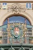 市政门面的房子 免版税库存图片