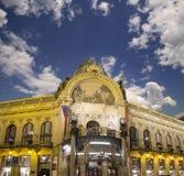 市政House (1912)艺术nouveau样式的--是一个主要地标和音乐厅在布拉格,捷克 库存图片