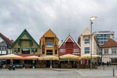 市斯塔万格在挪威 库存图片