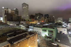 市新奥尔良在晚上 库存图片