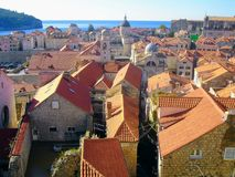 市杜布罗夫尼克,克罗地亚 免版税库存图片
