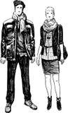 年轻市民的夫妇 免版税库存照片