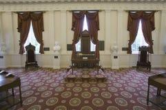 从市民议院的原始的报告人椅子  免版税库存照片