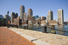 市波士顿。 库存图片