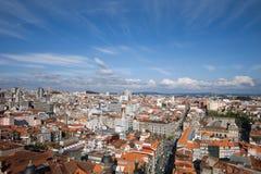 市波尔图在葡萄牙从上面 免版税库存图片