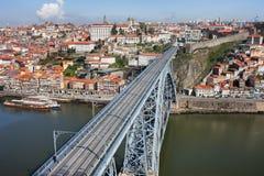 市波尔图在葡萄牙 库存图片