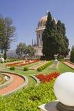 市海法在从Bahai庭院的以色列,看法向海和h 免版税库存图片
