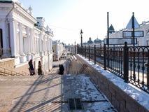 市的中央部分鄂木斯克 免版税库存照片