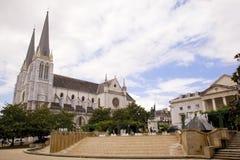 市的中心波城,法国 库存图片